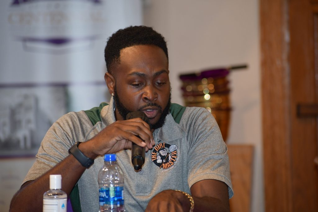 Marquis McKenzie of the Florida Rights Restoration Coalition speaks during Florida gubernatorial candidate U.S. Rep. Charlie Crist's Justice For All roundtable in Orlando Monday, October 11, 2021. Credit: Juan Carlo Rodriguez/Florida National News.
